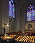 Candle Lit Prints - Washington National Cathedral - Washington DC Print by Brendan Reals