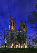 Peter Framed Prints - Washington National Cathedral After Sunset Framed Print by Metro DC Photography