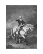 Military Hero Prints - Washington Receiving A Salute At Trenton Print by War Is Hell Store