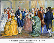 First Lady Metal Prints - Washington Reception, 1789 Metal Print by Granger
