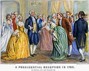 Washington Reception, 1789 Print by Granger