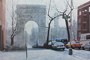 Washington Square Paintings - Washington Square by Diane Romanello