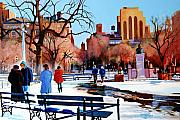 Washington Square Framed Prints - Washington Square Framed Print by John Tartaglione