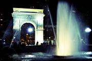 Washington Square Framed Prints - Washington Square Park After Dark Framed Print by Ariane Moshayedi