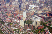Aerial Photo Of Philadelphia Posters - Washington Square Park Area Philadelphia Poster by Duncan Pearson