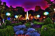 West Village Art - Washington Square Park at Night by Randy Aveille