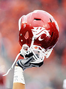 Cougars Prints - Washington State Helmet  Print by Getty Images