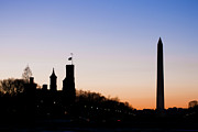 Smithsonian Museum Prints - Washington Sunset Print by Jeff Mollman