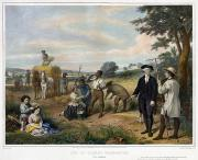 Parke Prints - Washington The Farmer Print by Granger
