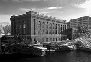 Spokane Photo Prints - Washington Water Power Post Street Station - Spokane Washington Print by Daniel Hagerman