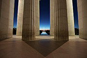 United States Capital Prints - Washinton Monument At Sunset, Viewed Print by Terry Moore