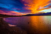 Sunset Reflection Prints - Washoe Lake Nevada Sunset Print by Scott McGuire
