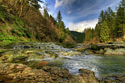 River Landscape Posters - Washougal River , Washington Poster by David Gn Photography