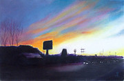 City Scape Pastels - Washtenaw Avenue    Ypsilanti  Michigan  by Yoshiko Mishina