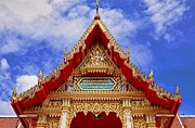 Gold Framed Prints - Wat Chalong 2 Framed Print by Metro DC Photography