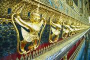 Handcarved Art - Wat Phra Keo (Grand Palac by Bill Brennan - Printscapes