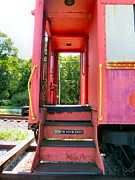 Old Caboose Photos - Watch Your Step by Michelle Milano