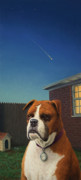 Boxer Dog Paintings - Watchdog by James W Johnson