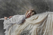 Storybook Prints - Watched By The Angels Print by Terry Kirkland Cook