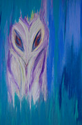 Pole Drawings - Watcher in the Blue by First Star Art 