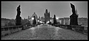 Charles Bridge Photo Framed Prints - Watchers Framed Print by Jason Wolters