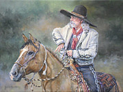 Mexican Horse Paintings - Watchin The Time by Judith Moore-Knapp