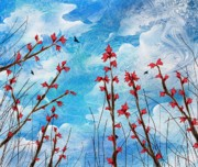 Hallucinations Prints - Watching clouds go by Print by Rachel Christine Nowicki