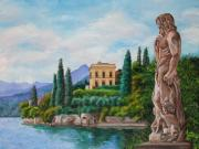 Lake Como Art - Watching Over Lake Como by Charlotte Blanchard