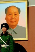 Watching Over Mao Print by Anthony Silver