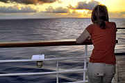 Ladies Art - Watching the Sunrise at Sea by Jason Politte