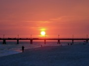 Beach Sunsets Photo Prints - Watching the Sunset Print by Sandy Keeton