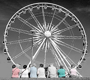 Pensioners Framed Prints - Watching the wheel Framed Print by Rob Hawkins