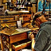 Day Photo Metal Prints - Watchmaker Metal Print by William Wetmore