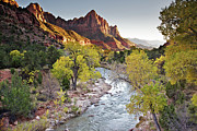 Virgin River Prints - Watchman In Zion National Park Print by Photo By Daryl L. Hunter - The Hole Picture