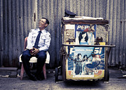 Old Photo Posters - Watchman Laughing Poster by Setsiri Silapasuwanchai