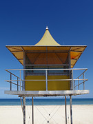 Beach Hut Posters - Watchtower Poster by Melanie Viola