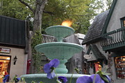 Gatlinburg Prints - Water and Fire Fountain Print by Eduardo Marquez