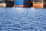Water Vessels Prints - Water and Fishing Boats Print by Paul Edmondson