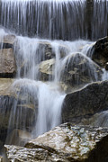 Water Fall Posters - Water and Rocks Poster by Frank Tschakert
