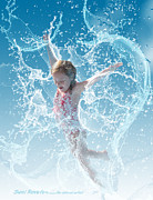 Child Digital Art - Water Baby by Suni Roveto