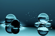 Water Drop Posters - Water Balls Poster by Alex Koloskov Photography