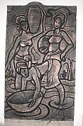 Decoration Reliefs - Water Beares by Sylvester Banahene