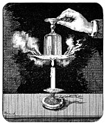 Combustion Posters - Water Boiling Experiment, 19th Century Poster by