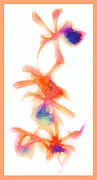 Orchid Show Prints - Water Color Orchids Print by Judi Bagwell