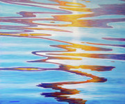 Ripples Paintings - Water Dance by Brian  Commerford