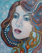 Art  Portraits Paintings - Water Dreamer by Sheri Howe