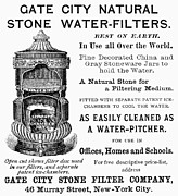 Water Filter Art - Water Filter Ad, 1889 by Granger