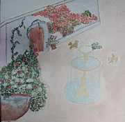 Dream Come True Posters - Water Fountain amidst garden Poster by Sonali Gangane
