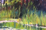 Melody Art - Water Garden Landscape II by Melody Cleary