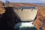 Release Posters - Water Is Released Below The Glen Canyon Poster by Bill Hatcher